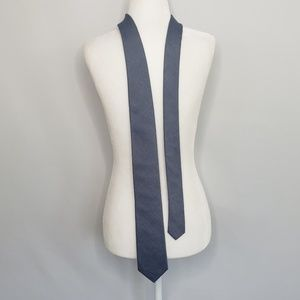 NWT Calvin Klein Blue Cotton & Silk Blend Tie